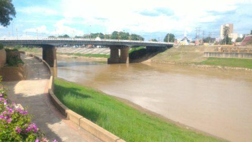 สภาพแม่น้ำน่าน วันที่ 2มิถุนายน2560 บริเวณอำเภอเมือง พิษณุโลก