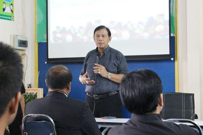 ประชุมประธานเครือข่ายแปลงใหญ่ ณ ศูนย์เรียนรู้การเพิ่มประสิทธิภาพการผลิตสินค้าเกษตร (ศพก.) อ.ท่าใหม่ จ.จันทบุรี โดยมี นายสมชาย ชาญณรงค์กุล อธิบดีกรมส่งเสริมการเกษตร เป็นประธาน