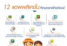 เปิดตัว 12 แอพฯเกษตร ที่เกษตรกรไทยควรโหลดติดมือถือไว้