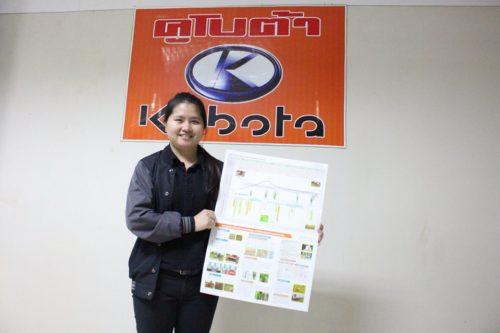 คุณกมลรัตน์ วินิจสกุลไทย เจ้าหน้าที่วิจัยและพัฒนานวัตกรรมการเกษตร