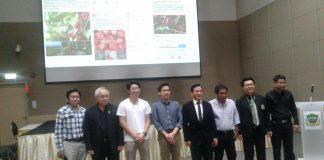 ผู้จัดงานร่วมกับสมาคมสื่อมวลชนเกษตรแห่งประเทศไทยถ่ายรูปกับวิทยากรที่มาในงาน