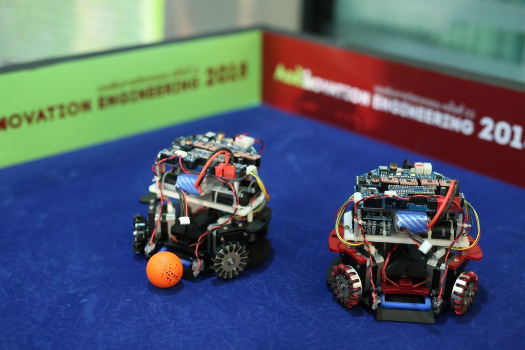 หุ่นยนต์เตะฟุตบอล สิ่งประดิษฐ์ภายในงาน