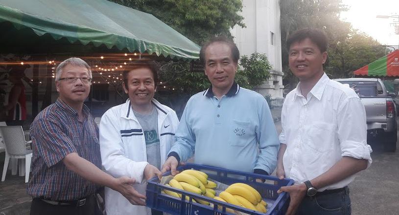 คุณจาง ถัง ไท่ นักธุรกิจเกษตรไต้หวัน และคณะ พร้อมแล้วที่จะเปิดตัวเข้าสู่ตลาดกล้วยหอมคาเวนดิชในประเทศไทย