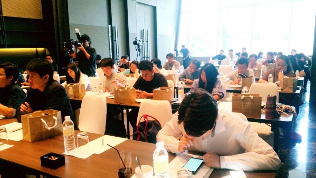 สื่อมวลชนร่วมฟังแถลงข่าวผลดำเนินงานประจำปี 2560 ทิศทางปี 2561 สยามคูโบต้า