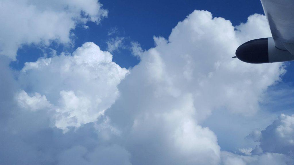 สภาพท้องฟ้า ขณะปฏิบัติการฝนหลวง แก้ปัญหาภัยแล้ง