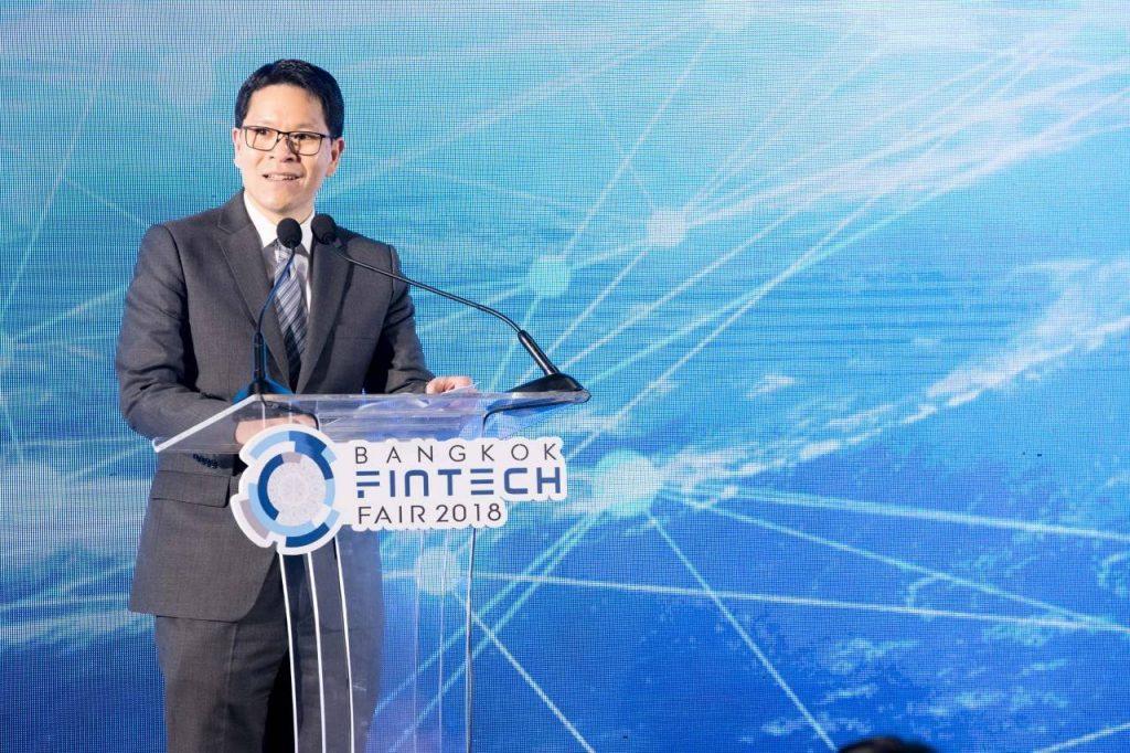 วิรไท สันติประภพ ประธานเปิดงาน Bangkok Fintech Fair 2018