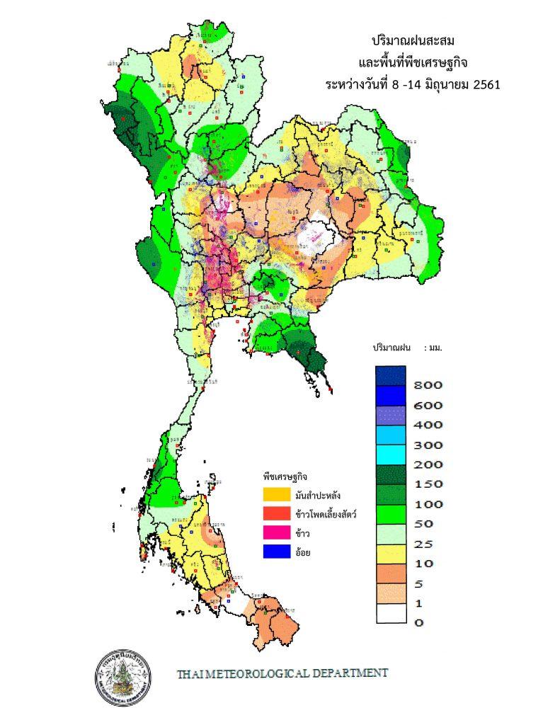 พื้นที่การเกษตรที่ไม่มีฝนตกย้อนหลัง 7 วัน