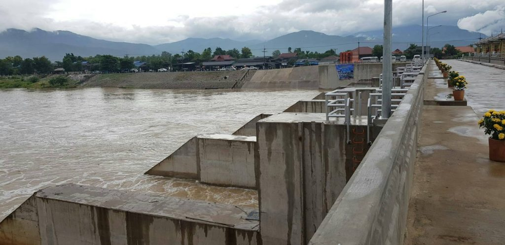สื่อมวลชนลงพื้นที่ตรวจดำเนินการบริหารจัดการน้ำโครงการฝายวังปาน