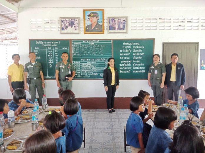 ไปดูโครงการเกษตรเพื่ออาหารกลางวัน ที่โรงเรียนตำรวจตระเวนชายแดนการบินไทย จ.สระแก้ว
