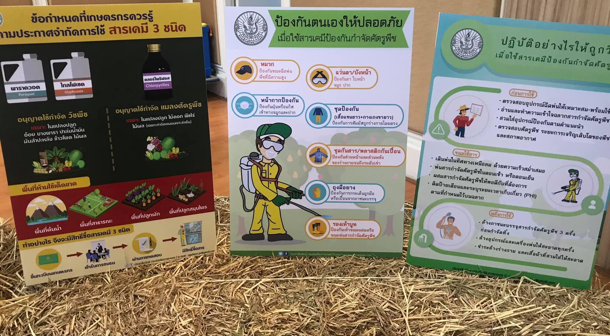 เกษตรกรผู้ประสงค์ใช้ สารเคมี 3 สาร