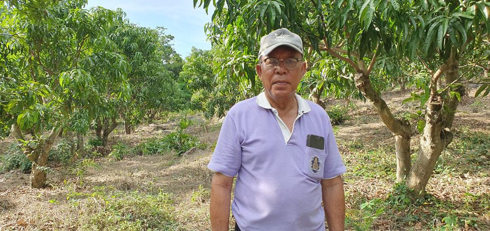นายไพบูลย์ ชูเอียด ประธานวิสาหกิจชุมชนกลุ่มเกษตรผสมผสานบัวสวรรค์ (กลุ่มสันเขา) และเกษตรกรเจ้าของสวนเกษตรไพบูลย์