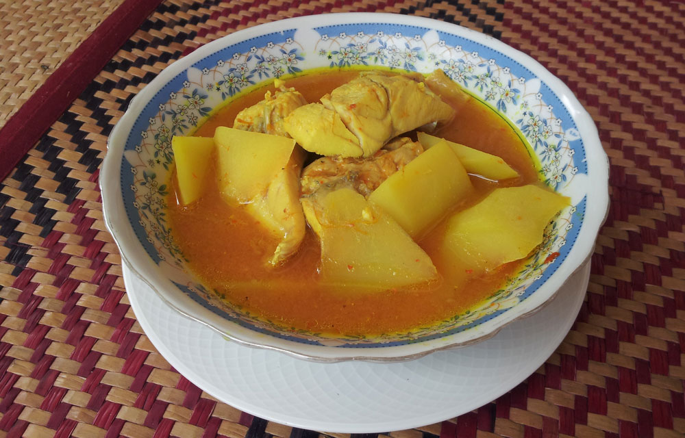 แกงส้มปลากะพง กับฟักข้าว