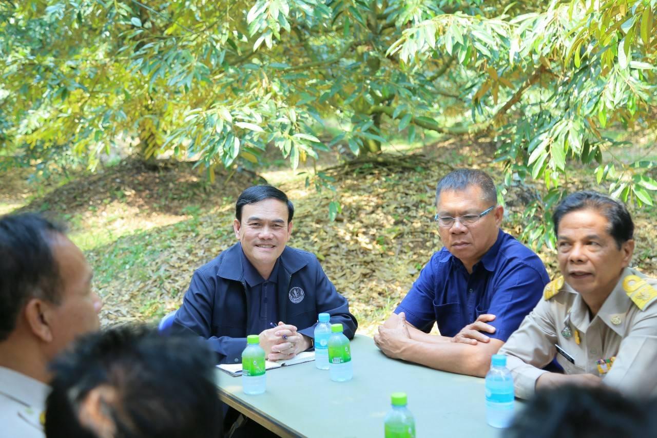 กรมส่งเสริมฯ เกาะติดสถานการณ์ไม้ผล และเตรียมป้องกันภัยแล้งในสวนไม้ผล จ.จันทบุรี
