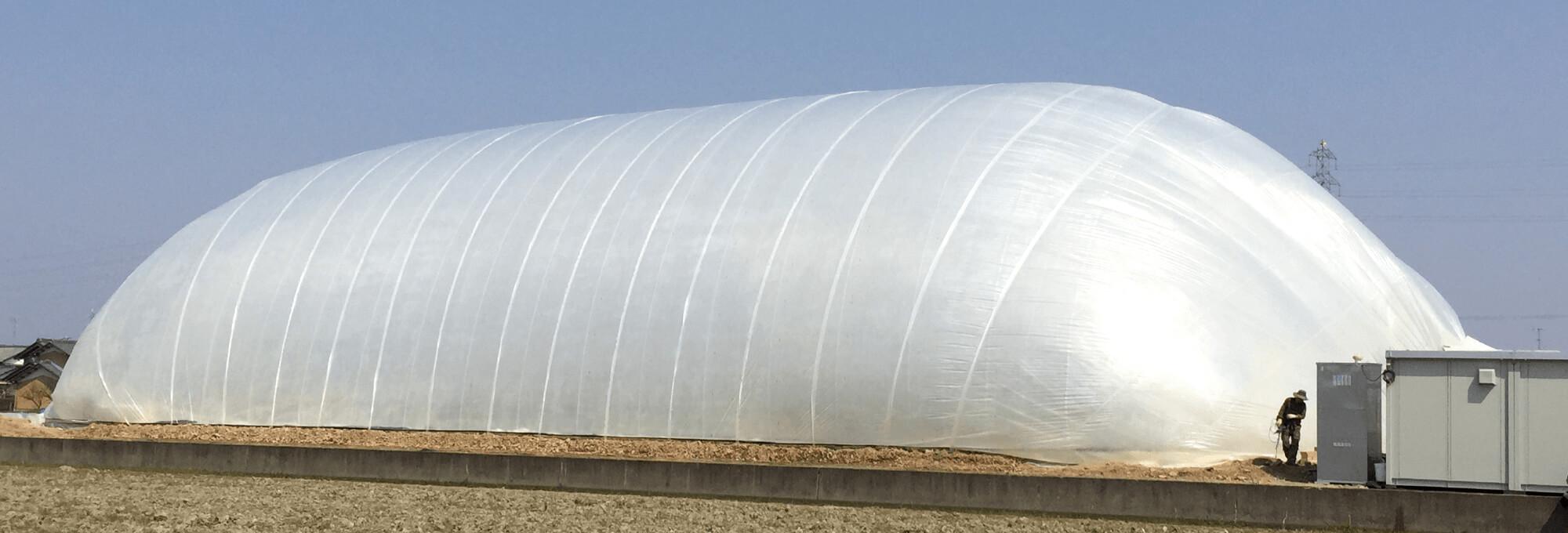 หน้าตา AIR DOME โรงเรือนปลูกผักไร้เสา (ภาพจาก LS Farm)