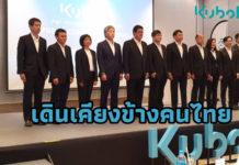 บริษัทสยามคูโบต้าคอร์ปอเรชั่น จำกัด ประกาศเดินเคียงข้างคนไทย เผยแผนช่วยเหลือเยียวยาภายใต้สถานการณ์ COVID – 19 ในโครงการ KUBOTA On Your Side แก่ผู้ได้รับผลกระทบในทุกภาคส่วน ทั้งหน่วยงานรัฐ ประชาชนและลูกค้าของคูโบต้า (ภาพจากงานแถลงนโยบายปี 2563 เมื่อ 31 มกราคม 2563)