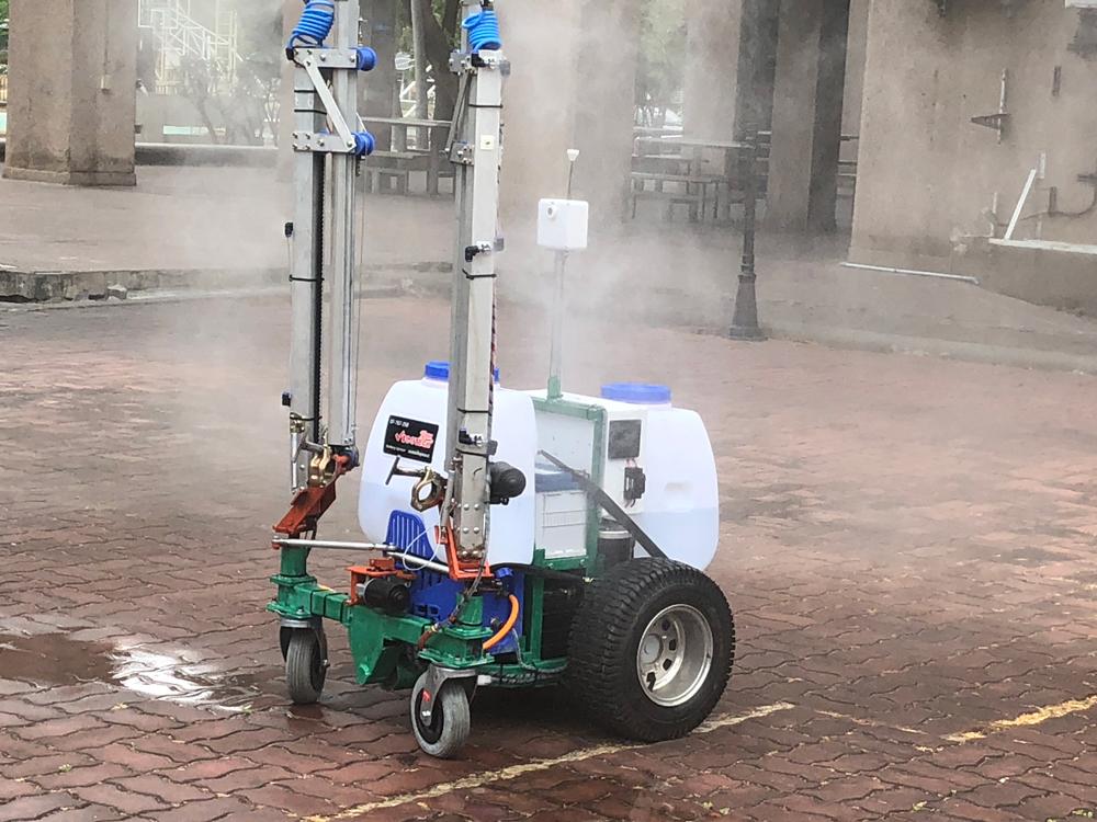 หุ่นยนต์ฉีดพ่นฆ่าเชื้อโรค COVID-19 เร็วกว่าคน 2 เท่า ผลงาน ม.เกษตรศาสตร์