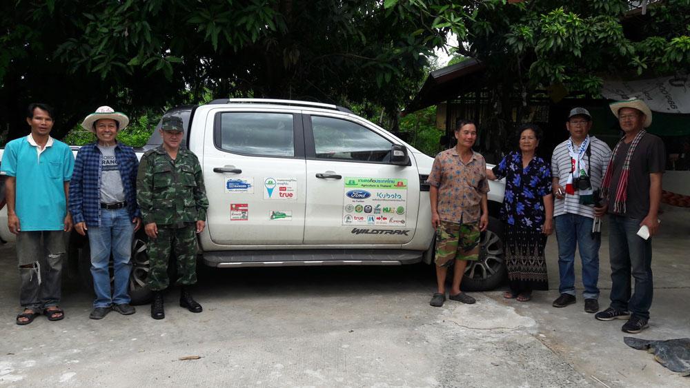 การเดินทางตามโครงการเกษตรคือประเทศไทย (ปี 1)...ภาพนี้พบพี่น้องเกษตรกรที่ อ.โขงเจียม จ.อุบลราชธานี