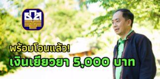 ธ.ก.ส. พร้อมโอนเงินเยียวยา 5,000 บาท รวม 3 เดือน แก่เกษตรกรที่ขึ้นทะเบียน 10 ล้านราย