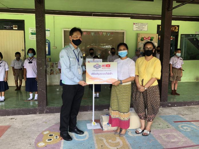 บริษัทไทยเซ็นทรัลเคมีฯ นำทีมเข้าปรับปรุงระบบไฟฟ้า ลดความเสี่ยงต่ออุบัติเหตุ ให้กับโรงเรียนในชุมชนอำเภอนครหลวง จังหวัดพระนครศรีอยุธยา