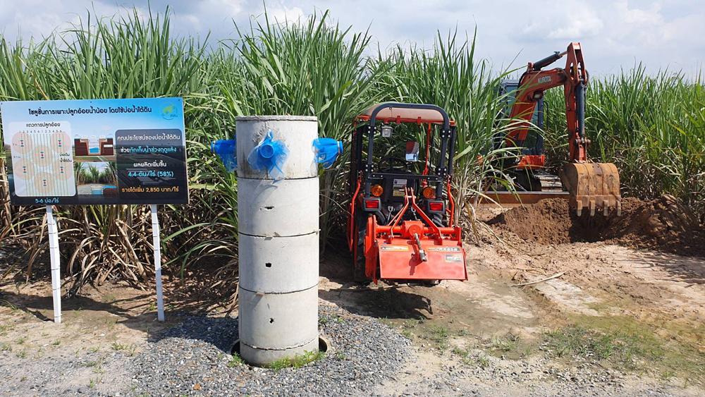 ระบบการจัดการเรื่องน้ำในแปลงปลูกอ้อยและการใช้จักรกลเกษตร