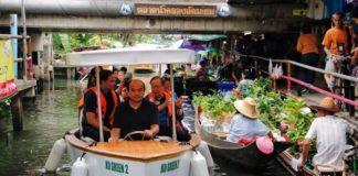 สุดยอด! นักวิจัย ม. เกษตร ศรีราชา ผลิต 'เรือไฟฟ้า KU GREEN 2' รูปแบบทันสมัย ให้บริการนักท่องเที่ยวตลาดน้ำคลองลัดมะยม