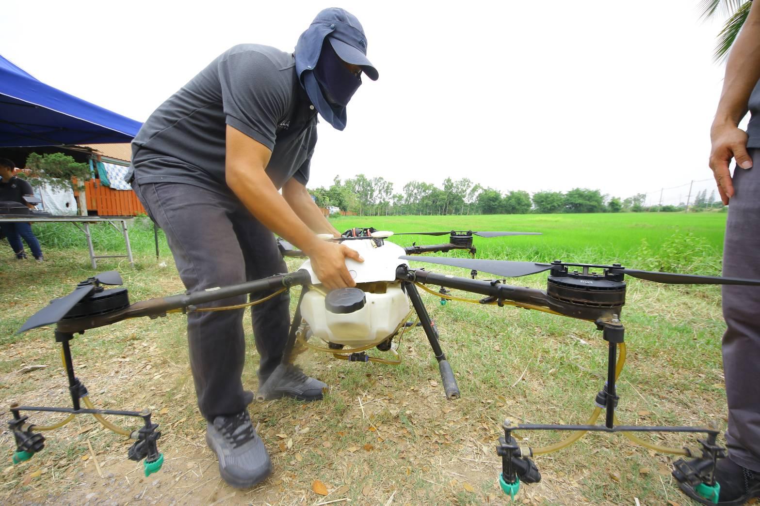 ใช้ระบบประมวลผลภาพดิจิทัลร่วมกับโดรนเพื่อการเกษตร จะได้ผลผลิตที่ 2,428 กิโลกรัม