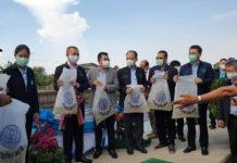 กรมประมงปล่อยพันธุ์ปลาน้ำจืดพื้นที่กรุงเทพฯ วันเดียว 3 ล้านตัว (จุดแรกที่โรงเรียนสุเหร่าศาลาแดง เขตหนองจอก)