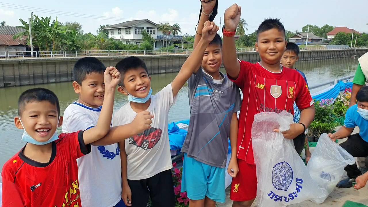 เยาวชนดีใจได้มาร่วมปล่อยปลา