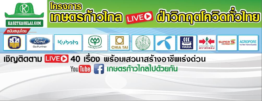 โครงการเกษตรก้าวไกลLIVEฝ่าวิกฤตโควิดทั่วไทย