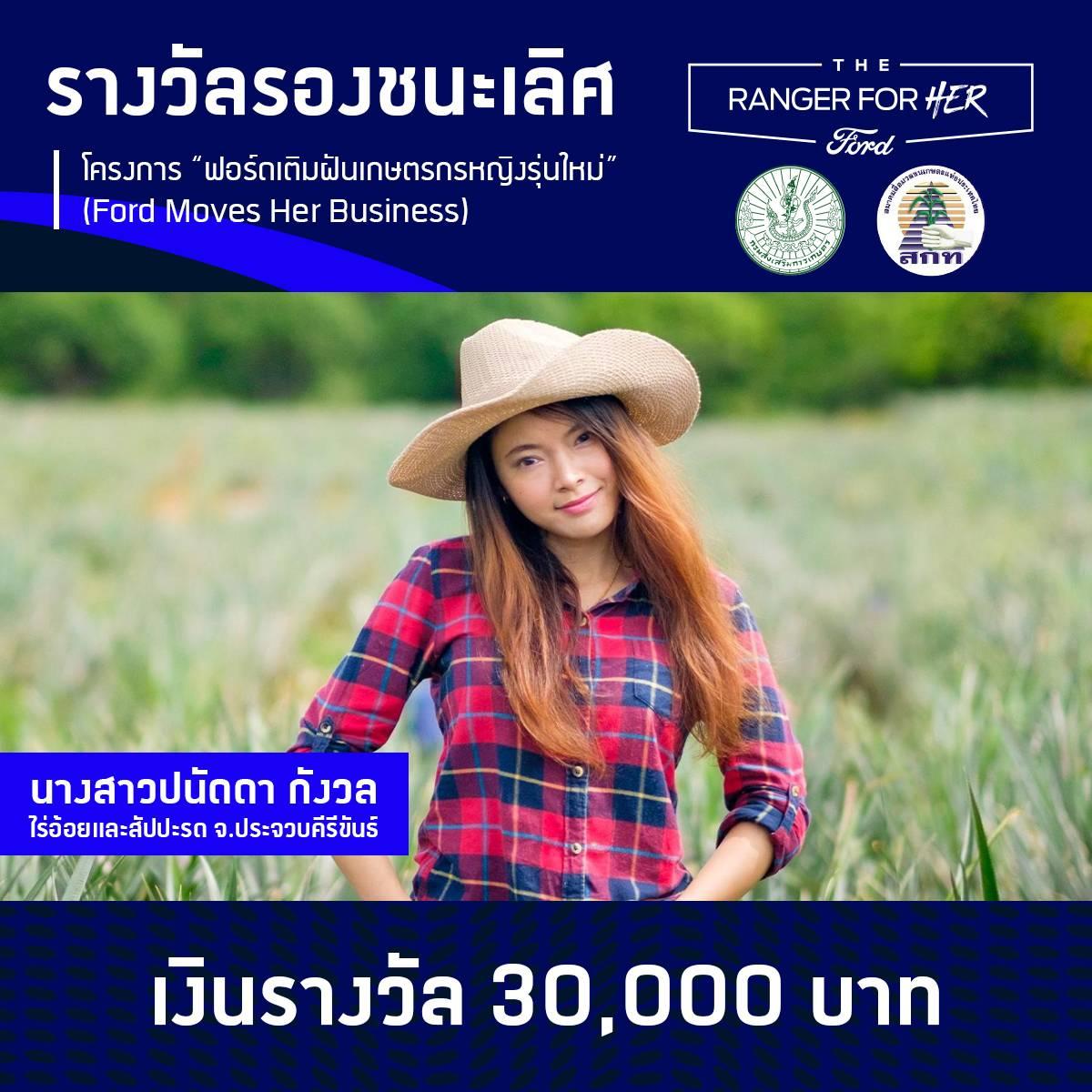 """ฟอร์ดมอบทุนต่อยอดธุรกิจเกษตรกรสาวคนแกร่ง ผู้ชนะโครงการ """"ฟอร์ดเติมฝันเกษตรกรหญิงรุ่นใหม่"""""""