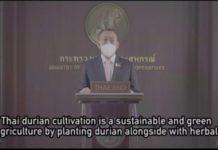 """รัฐมนตรีเกษตรฯ ชู """"ทุเรียน"""" เป็นสินค้าเกษตร SAP ในโครงการหนึ่งประเทศหนึ่งผลิตภัณฑ์ของไทย"""